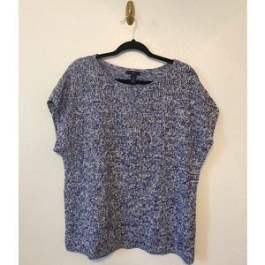 GAP Factory Blue and White Knit Top